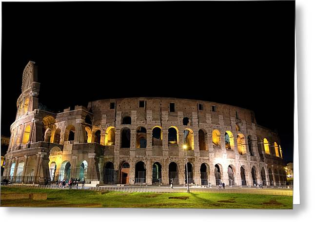 Greeting Card featuring the photograph Colosseum by Nikos Stavrakas