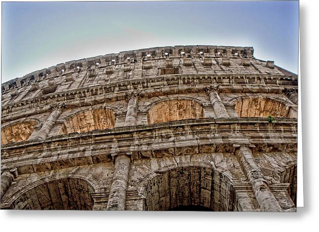 Colosseum Greeting Card by Roberto Alamino