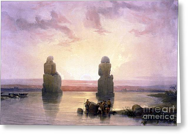 Colossi Of Memnon, Valley Of The Kings Greeting Card by Science Source