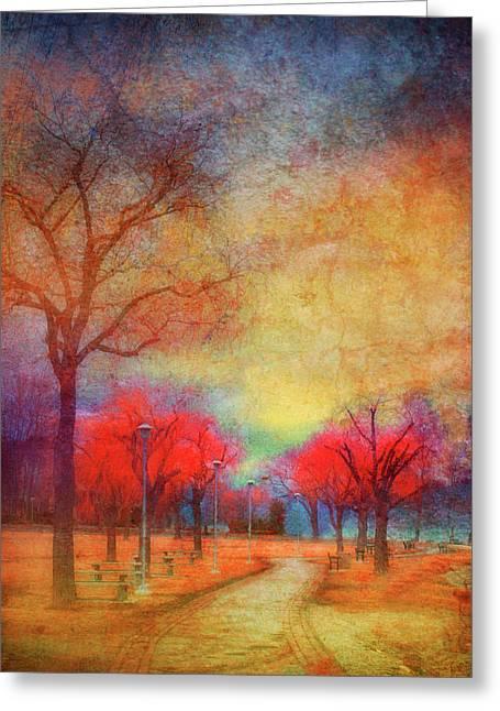 Orchard Digital Art Greeting Cards - Colour Burst Greeting Card by Tara Turner