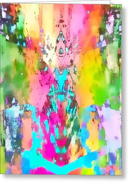 Colour Explosion Greeting Card by Tom Gowanlock