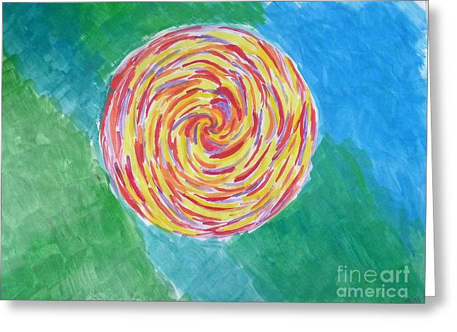 Colour Me Spiral Greeting Card