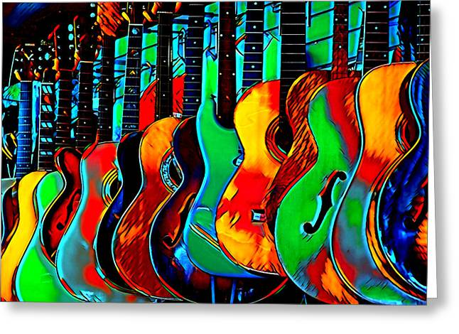 Greeting Card featuring the digital art Colour Of Music by Pennie McCracken