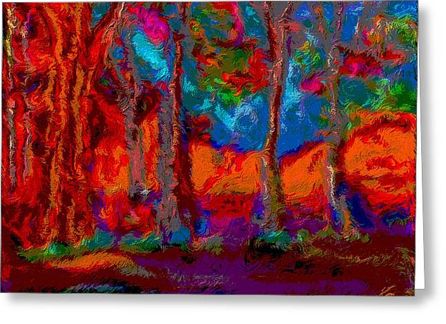 Colour Vg Style Greeting Card by Karen Harding