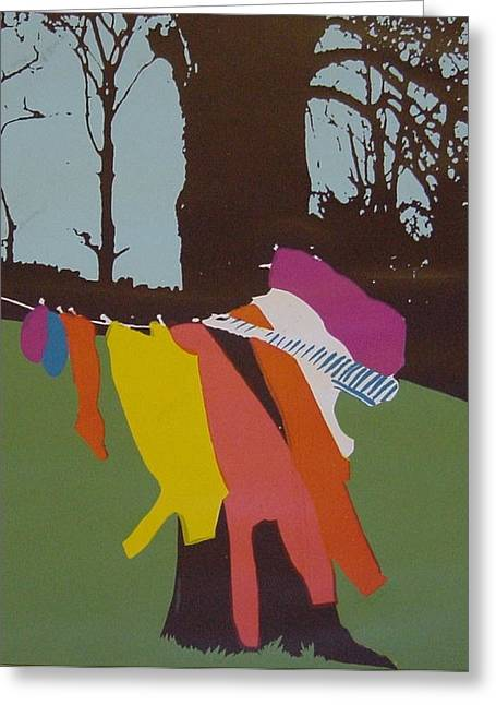 Colour Wash Greeting Card by Joanne Claxton