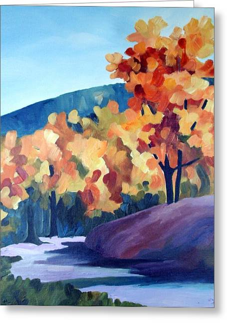 Colourful Autumn Greeting Card by Carola Ann-Margret Forsberg