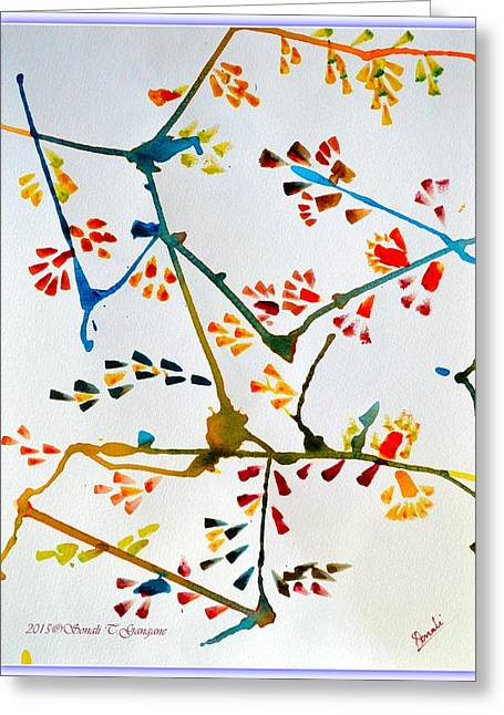 Colourful Blossoms Greeting Card by Sonali Gangane