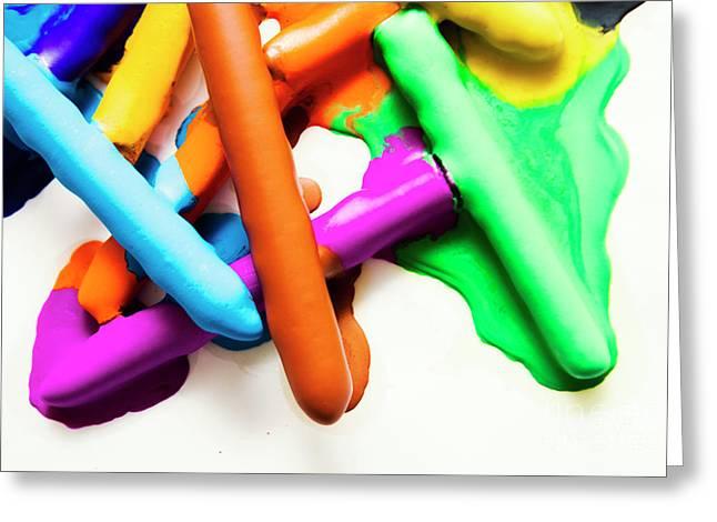 Colourful Crayon Art Greeting Card