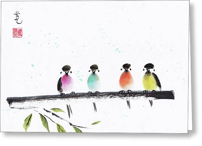 Colourful Family Greeting Card