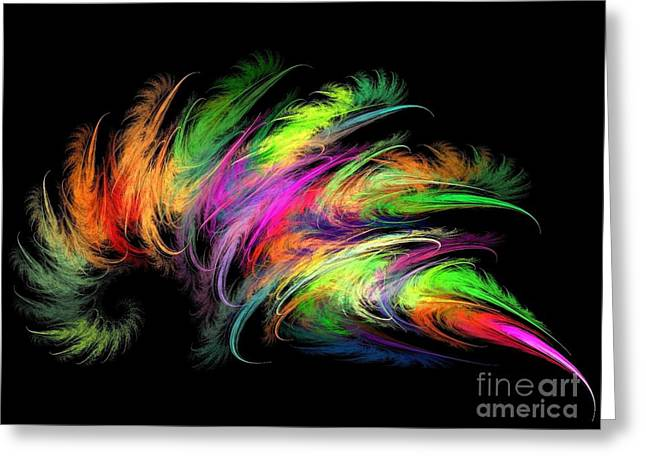 Colourful Feather Greeting Card