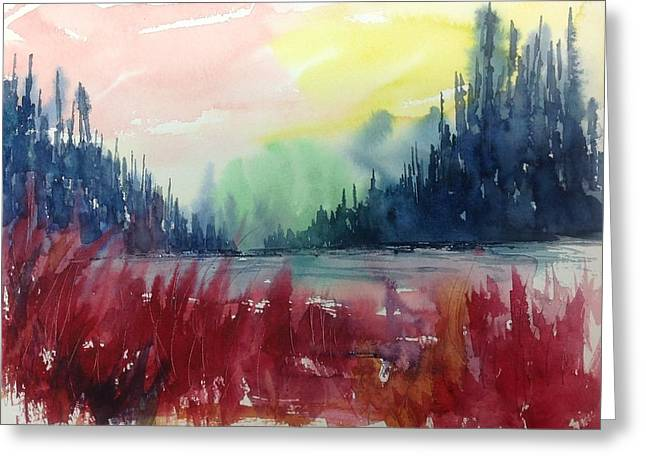 Colourful Forest No.1 Greeting Card