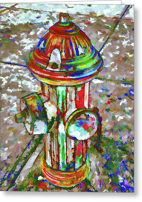 Colourful Hydrant Greeting Card