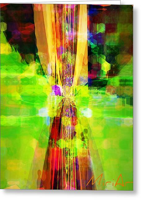 Greeting Card featuring the photograph Colourful by Miriam Shaw