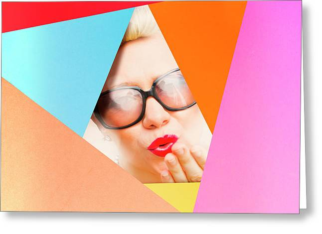 Colourful Paper Pinup Greeting Card by Jorgo Photography - Wall Art Gallery