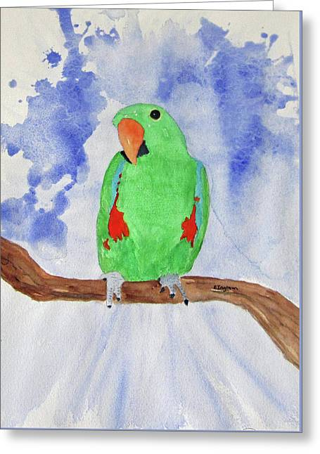 Female Parrot Greeting Card