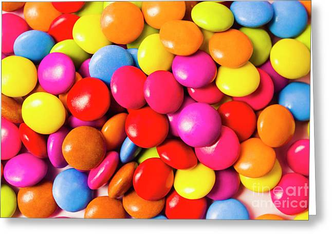 Colourful Round Candy Balls Closeup  Greeting Card by Jorgo Photography - Wall Art Gallery