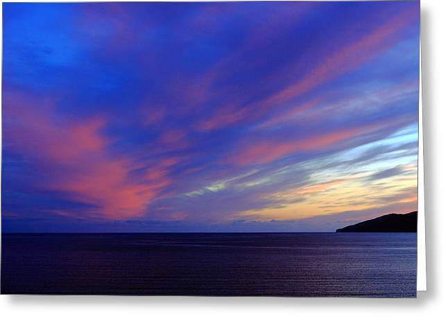 Colourful Skies Over Ballinskelligs Bay Greeting Card