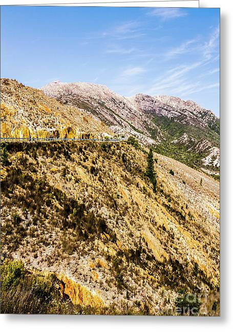Colourful Stony Highlands Greeting Card