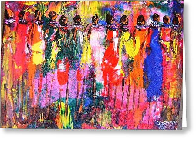 Colourful Women Greeting Card by Joseph Muchina