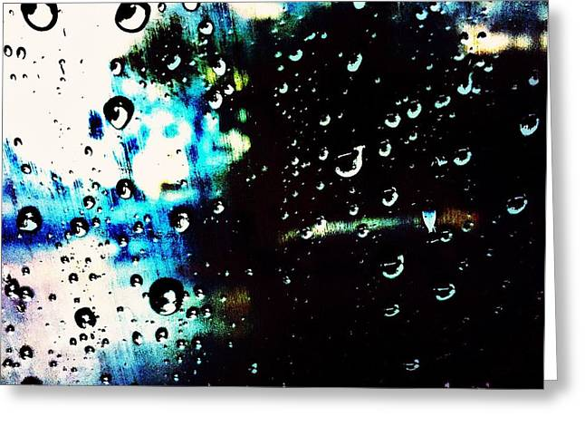 Colours In The Rain Greeting Card by Tiffany D Randle