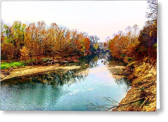 Colours Along Mill Creek Greeting Card