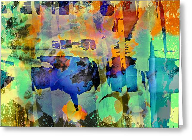 Colours Greeting Card by Contemporary Art