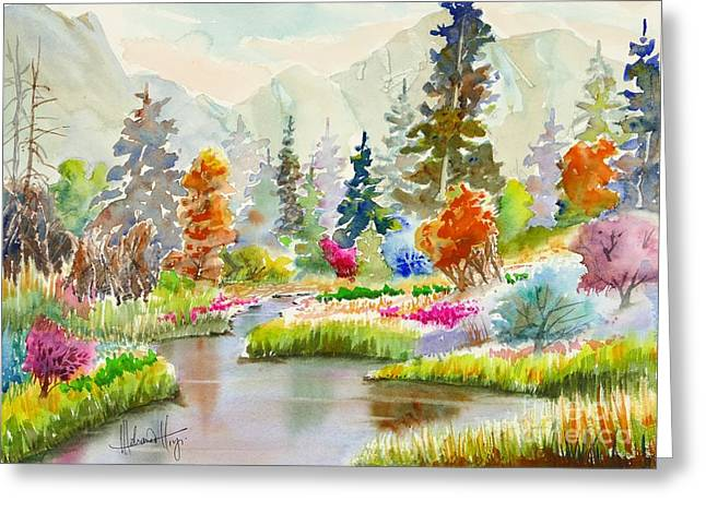 Colours Galore Greeting Card by Mohamed Hirji