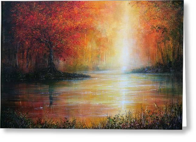 Colours Of Autumn Greeting Card by Ann Marie Bone