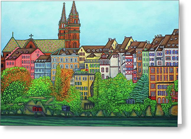Colours Of Basel, Switzerland Greeting Card