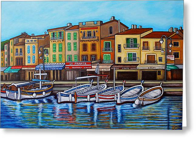 Colours Of Cassis Greeting Card