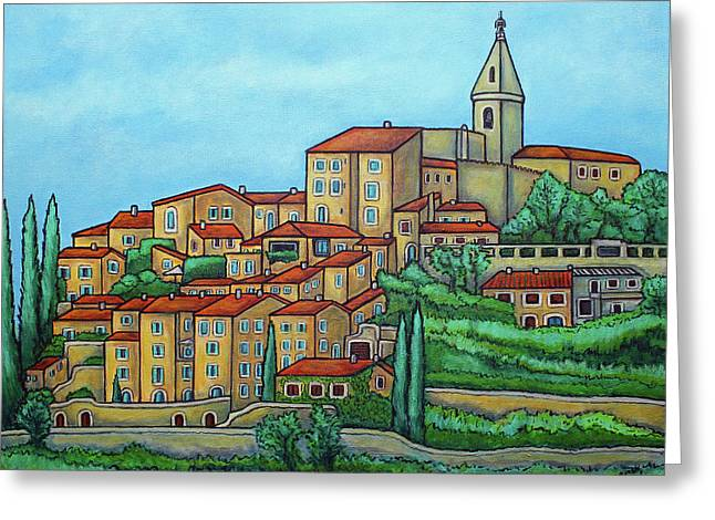 Colours Of Crillon-le-brave, Provence Greeting Card