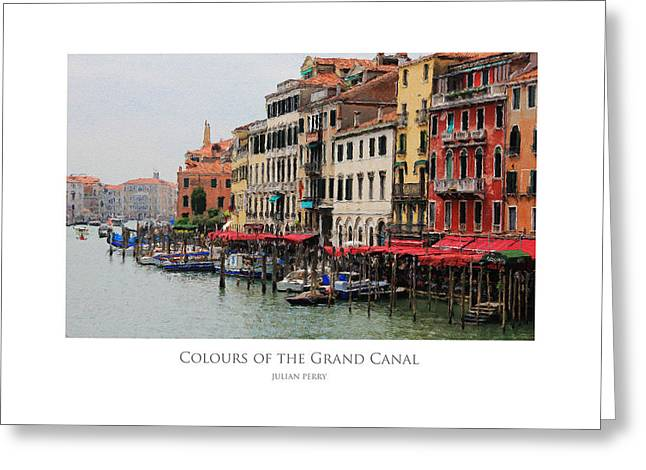 Colours Of The Grand Canal Greeting Card