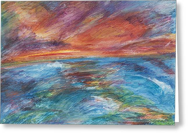 Colours Of The Sea 8 Greeting Card