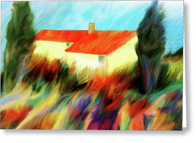 Greeting Card featuring the painting Colours Of The Wind by Valerie Anne Kelly