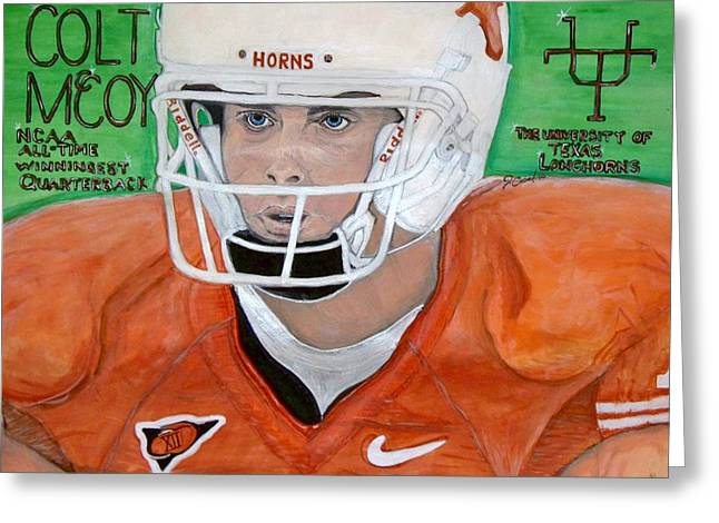 Colt Mccoy Ut Quarterback Greeting Card by Jose Cabral