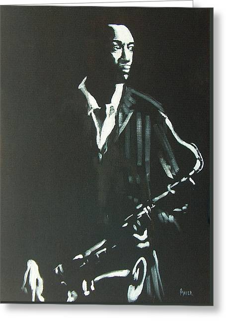 Coltrane Greeting Card by Pete Maier