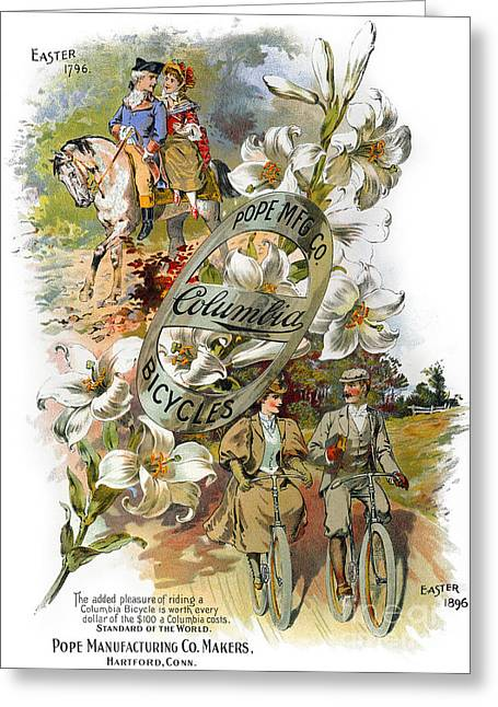 Columbia Bicycles Poster Greeting Card by Granger