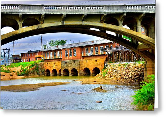 Greeting Card featuring the photograph Columbia Canal At Gervais Street Bridge by Lisa Wooten