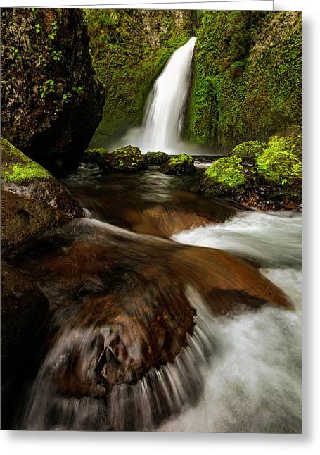 Greeting Card featuring the photograph Columbia Cleft by Mike Lang