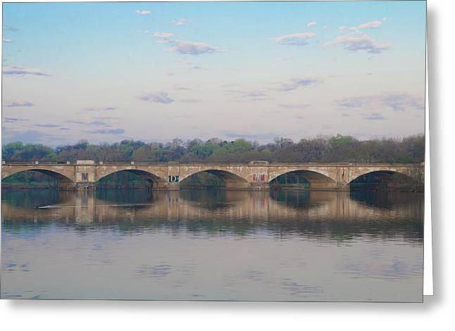 Greeting Card featuring the photograph Columbia Railroad Bridge - Philadelphia by Bill Cannon