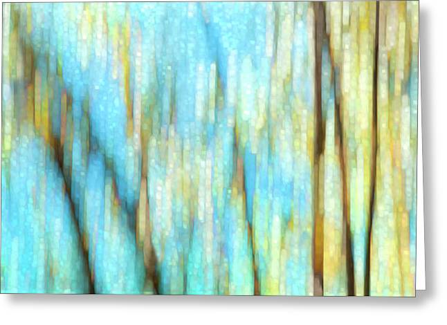 Columbia River Abstract Greeting Card by Theresa Tahara
