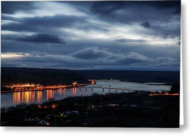 Greeting Card featuring the photograph Columbia River by Cat Connor