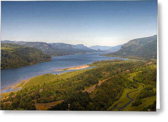 Columbia River Gorge  Greeting Card by Drew Castelhano