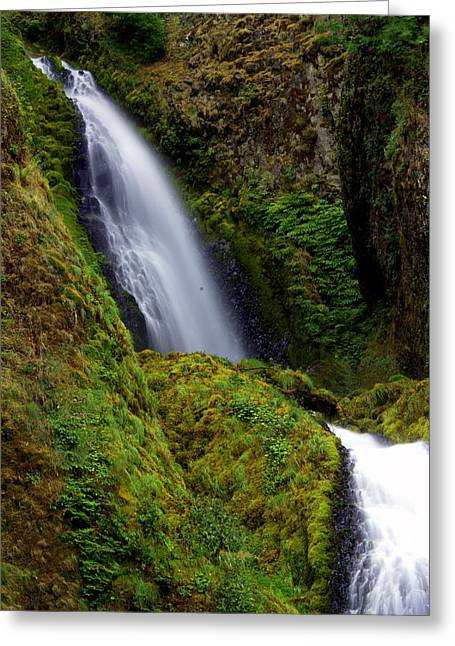 Columbia River Gorge Falls 1 Greeting Card by Marty Koch