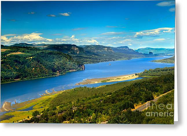 Columbia River Gorge  Greeting Card by Robert Bales