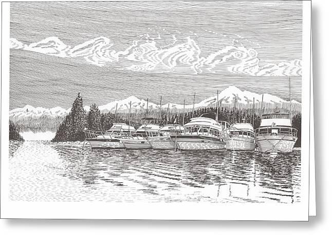 Columbia River Raft Up Greeting Card by Jack Pumphrey
