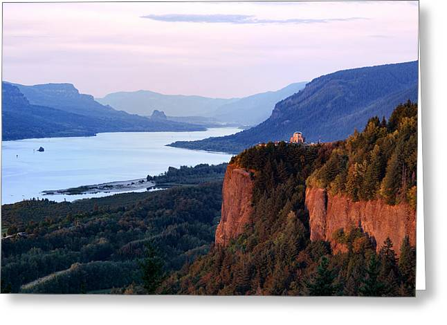 Columbia River Vista House Greeting Card by Mary Jo Allen