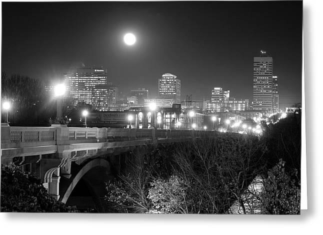 Columbia Skyline At Night Greeting Card