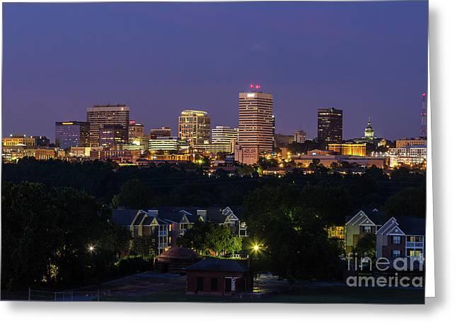 Columbia Skyline At Twilight Greeting Card