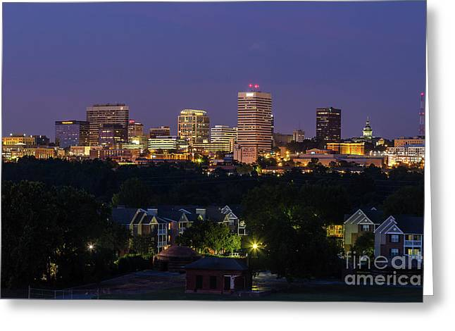 Columbia Skyline At Twilight Greeting Card